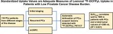 SUVs Are Adequate Measures of Lesional <sup>18</sup>F-DCFPyL Uptake in Patients with Low Prostate Cancer Disease Burden