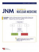 Journal of Nuclear Medicine: 58 (9)